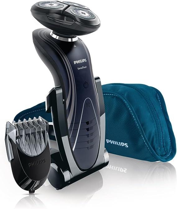 Philips SHAVER Series 7000 SensoTouch RQ1195/17 - Afeitadora (Máquina de afeitar de rotación, SkinGlide, RQ11, Negro, LED, Batería): Amazon.es: Salud y cuidado personal