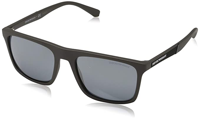 Armani EA4097 Sunglasses 56406Q-56 - Matte Mud Frame, Grey ...