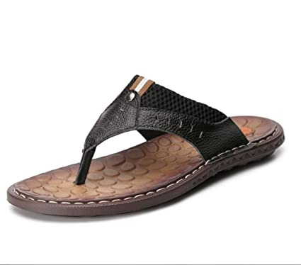 fa4d7514c8a277 LIANGXIE Men s Women s Slippers Brazil s First Layer Of Handmade Leather  Sandals Slippers Summer Beach Slippers