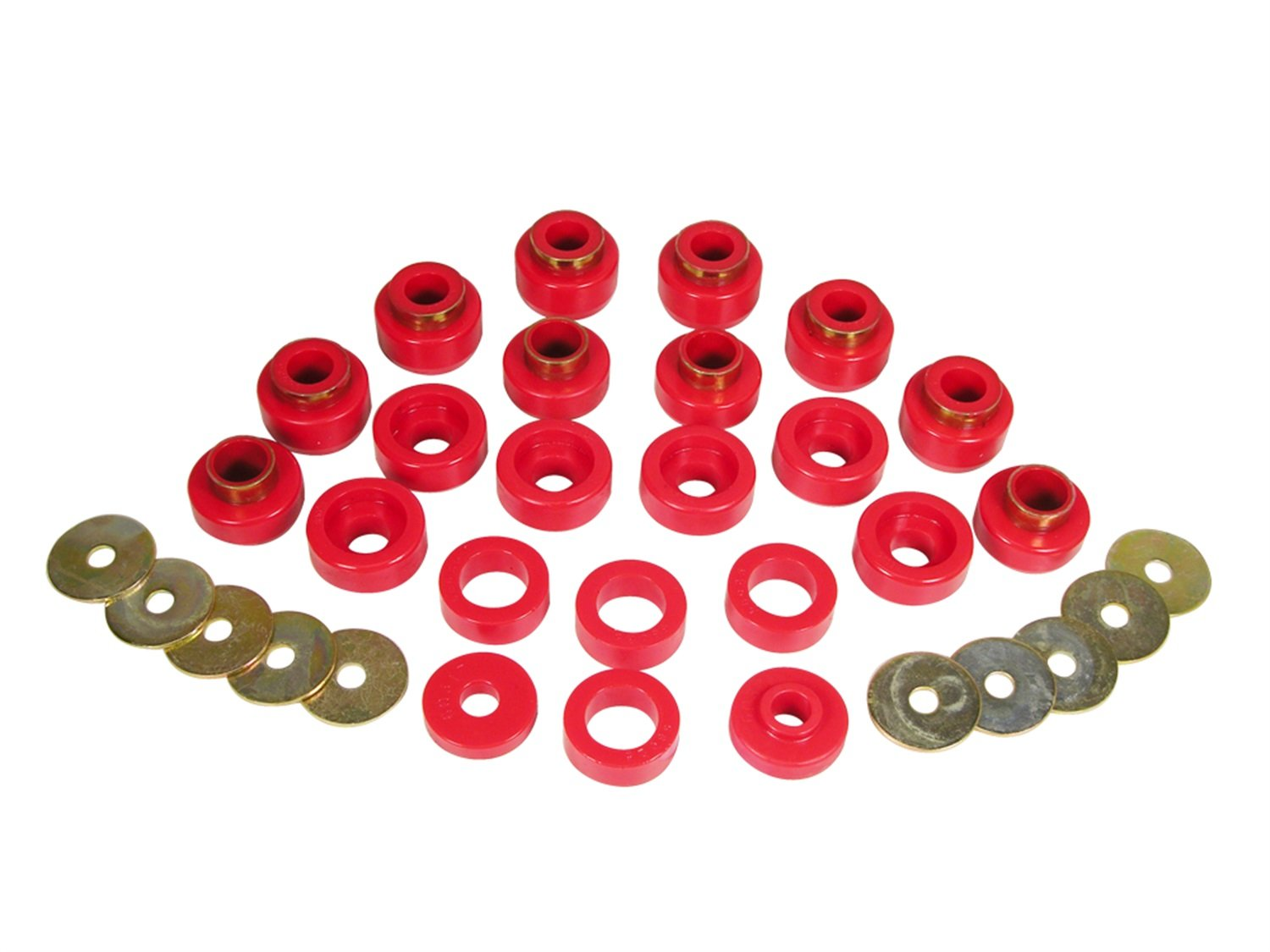 Prothane 1-105 Body Mount Bushing Kit for YJ, Red, 22 Piece by Prothane