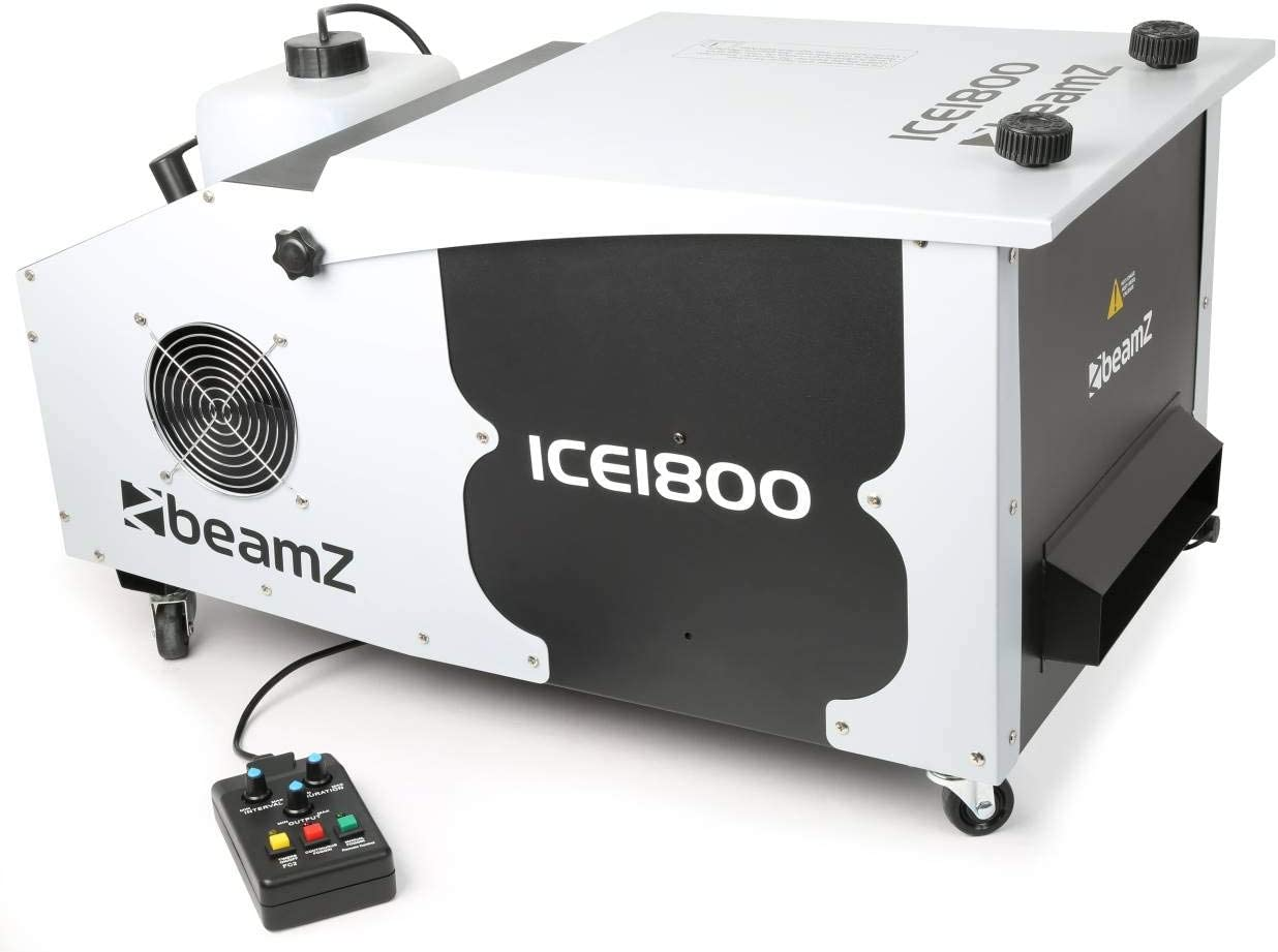 BeamZ ICE1800 Agua 2.5L 1800W Negro, Color blanco - Máquina de humo (1800 W, 220-240, 16,9 kg, 750 x 405 x 395 mm)