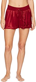 product image for PJ Harlow Women's Mikel Satin Boxer Short with Draw String - PJSB5 (XS, Red)