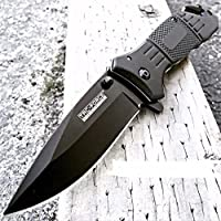 TAC Force Spring Assisted Opening Tactical Rescue Cuchillo plegable (Negro)