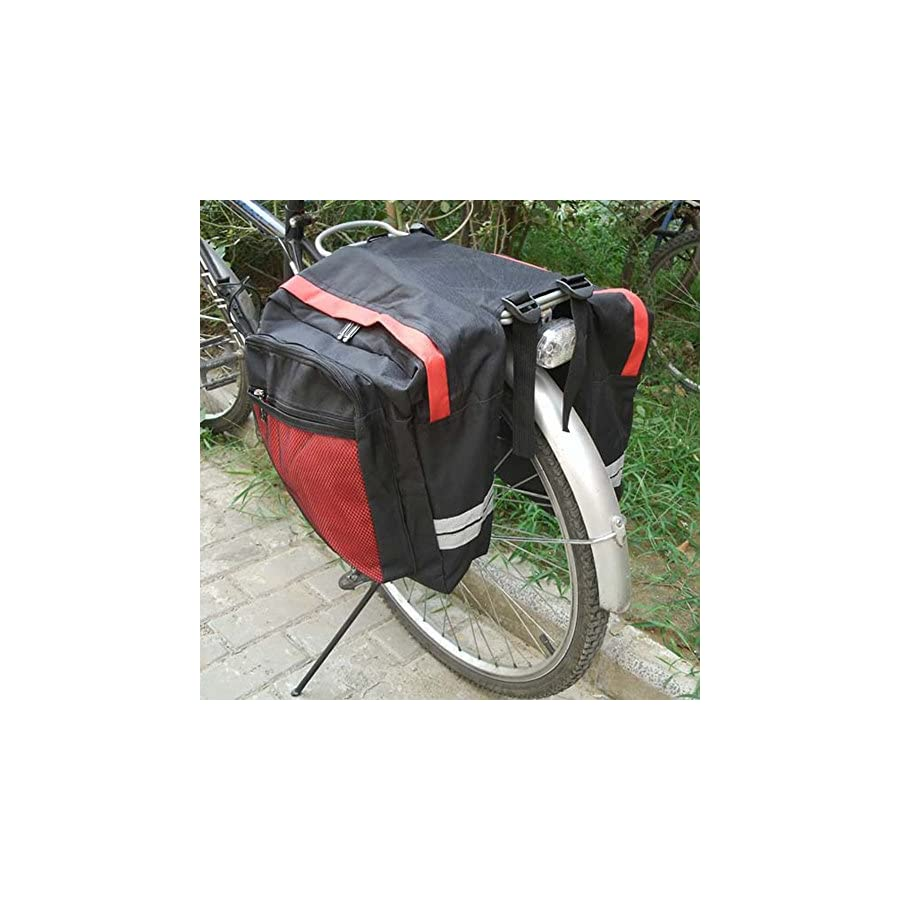 Meanhoo Cycling Multi Waterproof Cargo Bag Bike Rear Seat Trunk Bag Pannier Rear Seat Pack Lots Of Side Bags 600D PVC