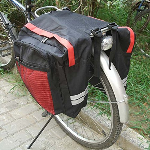 Meanhoo Cycling Multi Waterproof Cargo Bag Bike Rear Seat Trunk Bag Pannier Rear Seat Pack Lots Of Side Bags 600D PVC