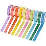 MinniLove マスキングテープ 和紙テープ ステッカーテープ 日記手帳飾り付け 10色セット 切りやすく貼りやすい 書き込み可能 繰り返し貼り付け 写真の飾り付けステッカー かわいい おしゃれ (10色入)