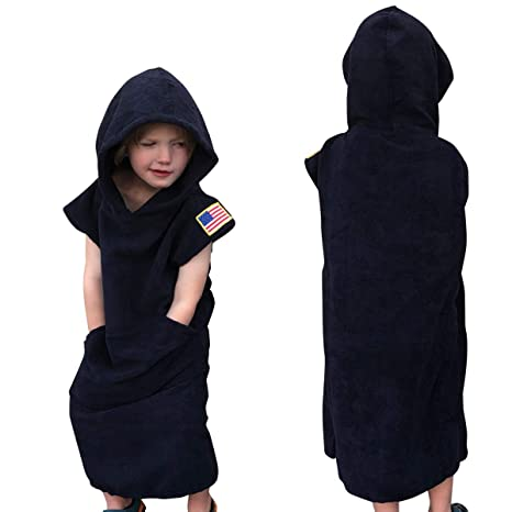 87546a3e53 Image Unavailable. Image not available for. Color  Kids Surf Robe Towel  Changing Poncho with ...