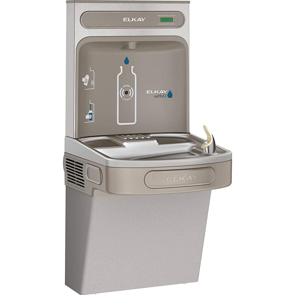Elkay EZS8WSLKEZH2O Bottle Filling Station with Single ADA Cooler, Non-Filtered 8 GPH, Light Gray