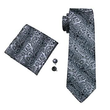 HDHFC Wedding Tie Hanky Gemelos Set Corbatas con Estampado ...
