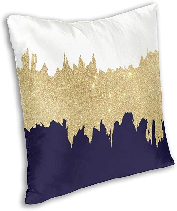 Navy Blue Autumn Nights V shaped Pillow Cases Orthopaedic