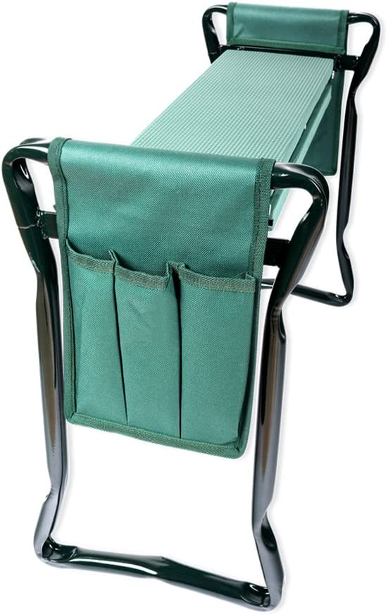 Schramm® Taburete de jardín Bolsa de Trabajo de Doble Cara Asiento Plegable Banco de Rodilla Banco de jardín Banco de Cosecha Protección de Rodilla