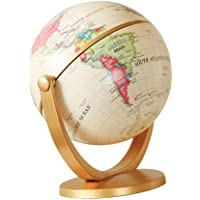 Baoblaze Rotating World Map Earth Globe Swivel Spinning Rotate Globe with Detailed Geography Political Educational Teaching Tool, Interative 10cm Dia