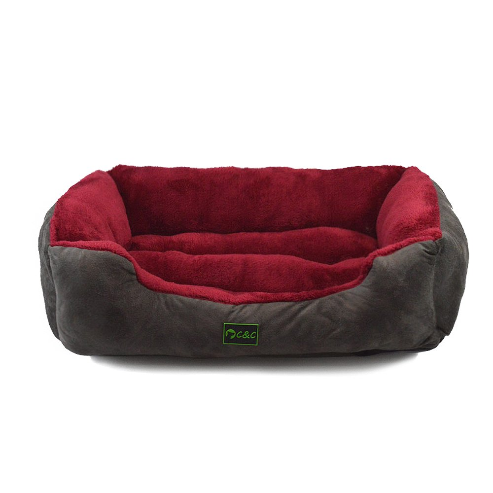 Mango Spot Soft Washable Rectangular Pet Cat Dog Daydreamer Bed, Small 19Lx15Wx5.3H Inch