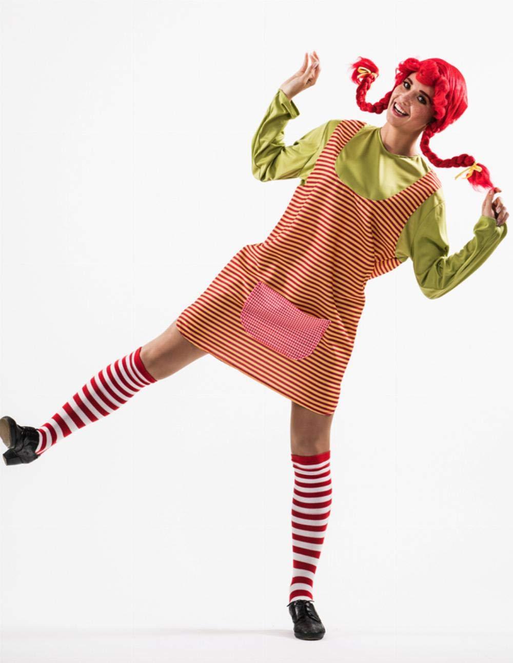 Disfraz de Chica Calzaslargas para mujer: Amazon.es: Juguetes y juegos
