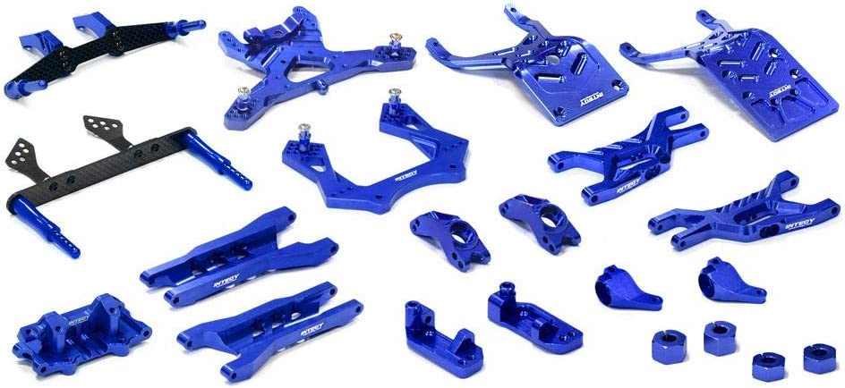 B00F8OQ15Q Integy RC Model Hop-ups T8651BLUE Billet Machined T3 Complete Suspension Kit for 1/10 Stampede 2WD 6142BIvrWVHL.SL1000_
