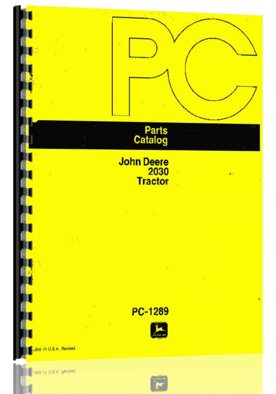 John Deere 1830 2030 Tractor Parts Manual (JD-P-PC1289)