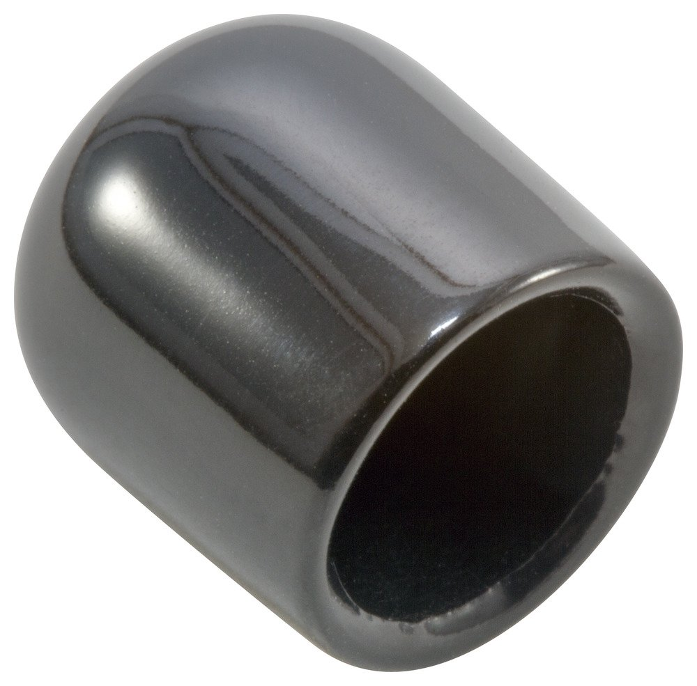Caplugs A254A11A Plastic Round Cap VC-304-8, VINYL, Cap ID 0.304'' Length 0.500'', Black (Pack of 5000)