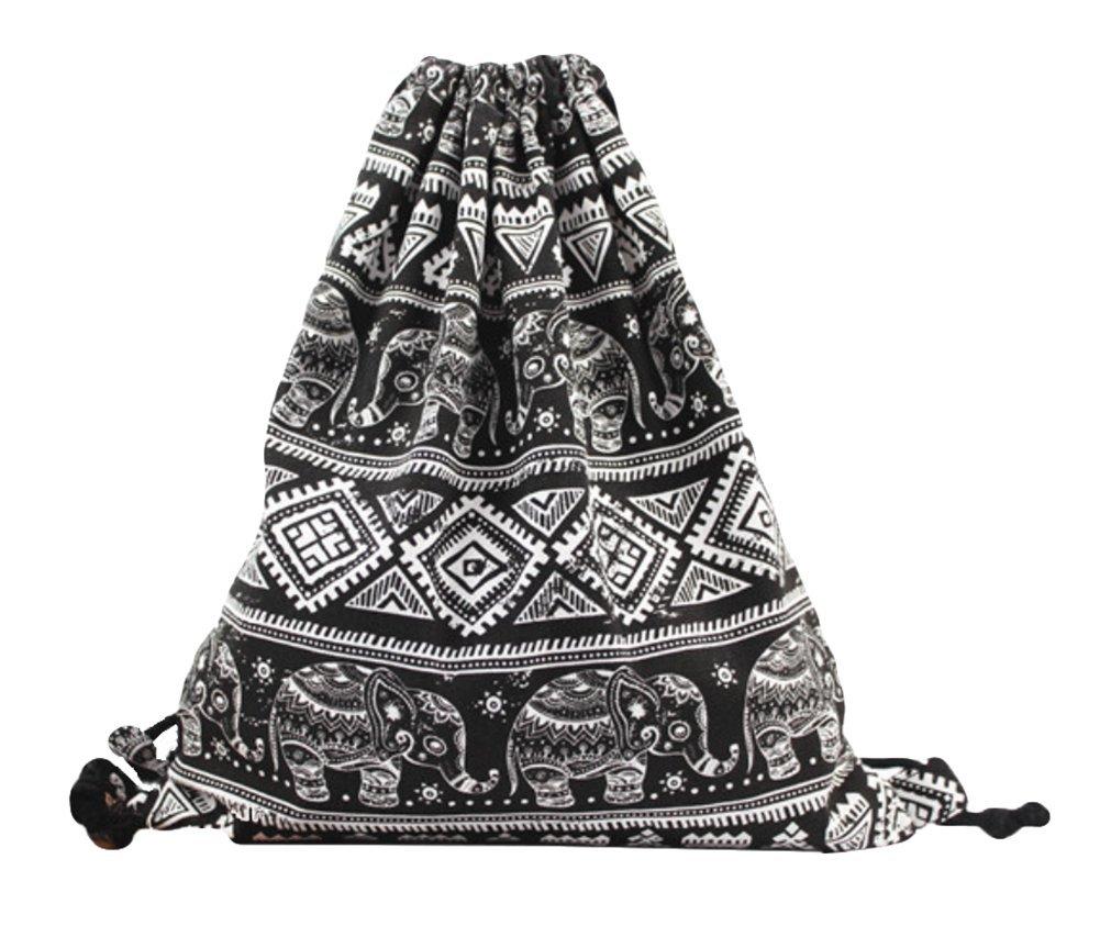 Weimay Mochila de cordón retro patrones geométricos mochilas ocasionales viaje bolsas de hombro para los estudiantes de la escuela: Amazon.es: Hogar
