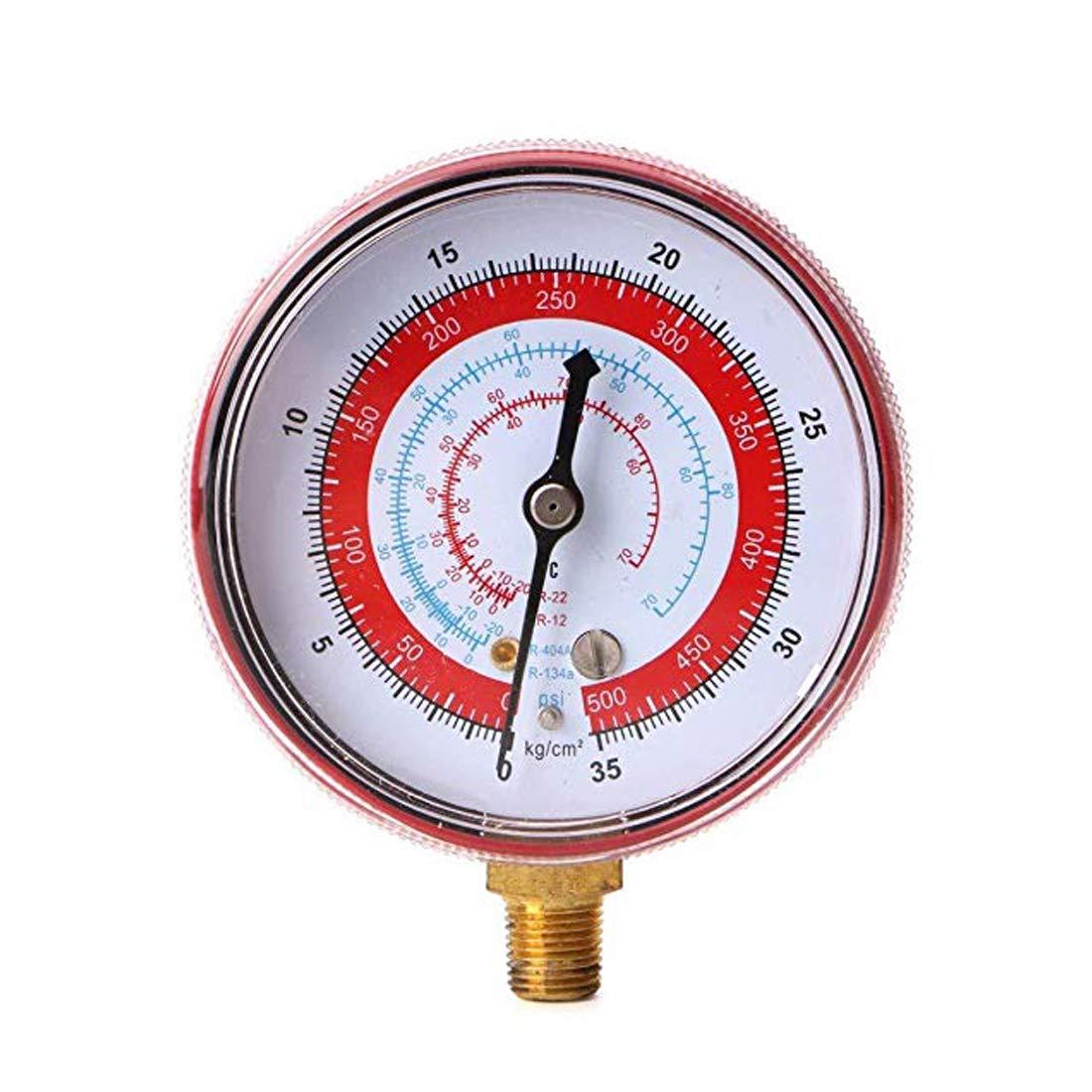 VIGORFLYRUN PARTS LTD Aire Acondicionado R410A R134A R22 Medidor de Baja presi/ón de refrigerante PSI KPA Medidor de presi/ón de refrigeraci/ón Refrigerante Azul