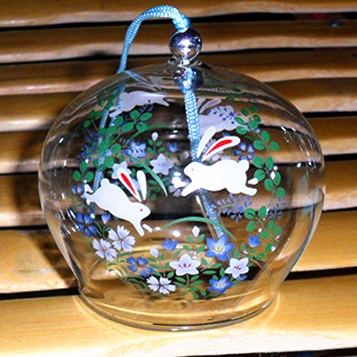 Wind Bell Japanese (Wind Bell Japanese Wind Chimes Handmade Glass Wind Chimes-Jumping Rabbit)