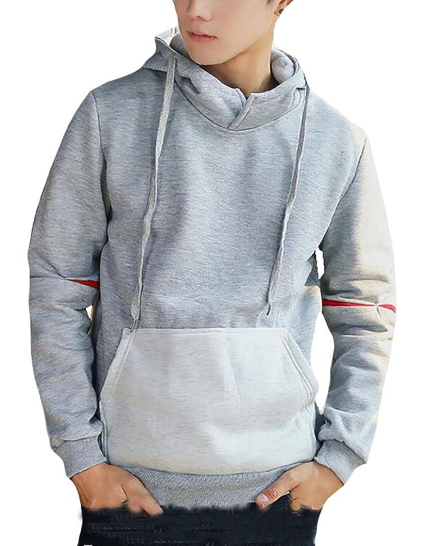 JXG-Men Running Sport Drawstring Hoodie Sweatshirt with Pocket