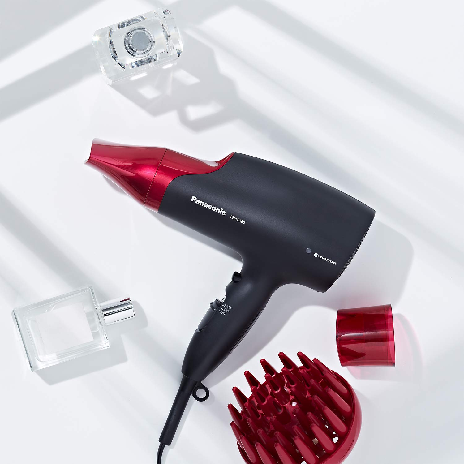 Panasonic EH-NA65-K nanoe Dryer, Professional-Quality with 3 attachments Including Quick Blow Dry Nozzle for Smooth, Shiny Hair, Pink by Panasonic (Image #11)