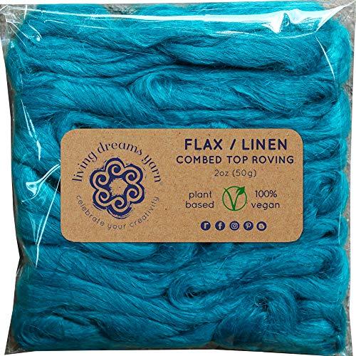 - Flax Fiber for Spinning, Blending, Fiber Arts. Natural Vegan Combed Top. Bahamas