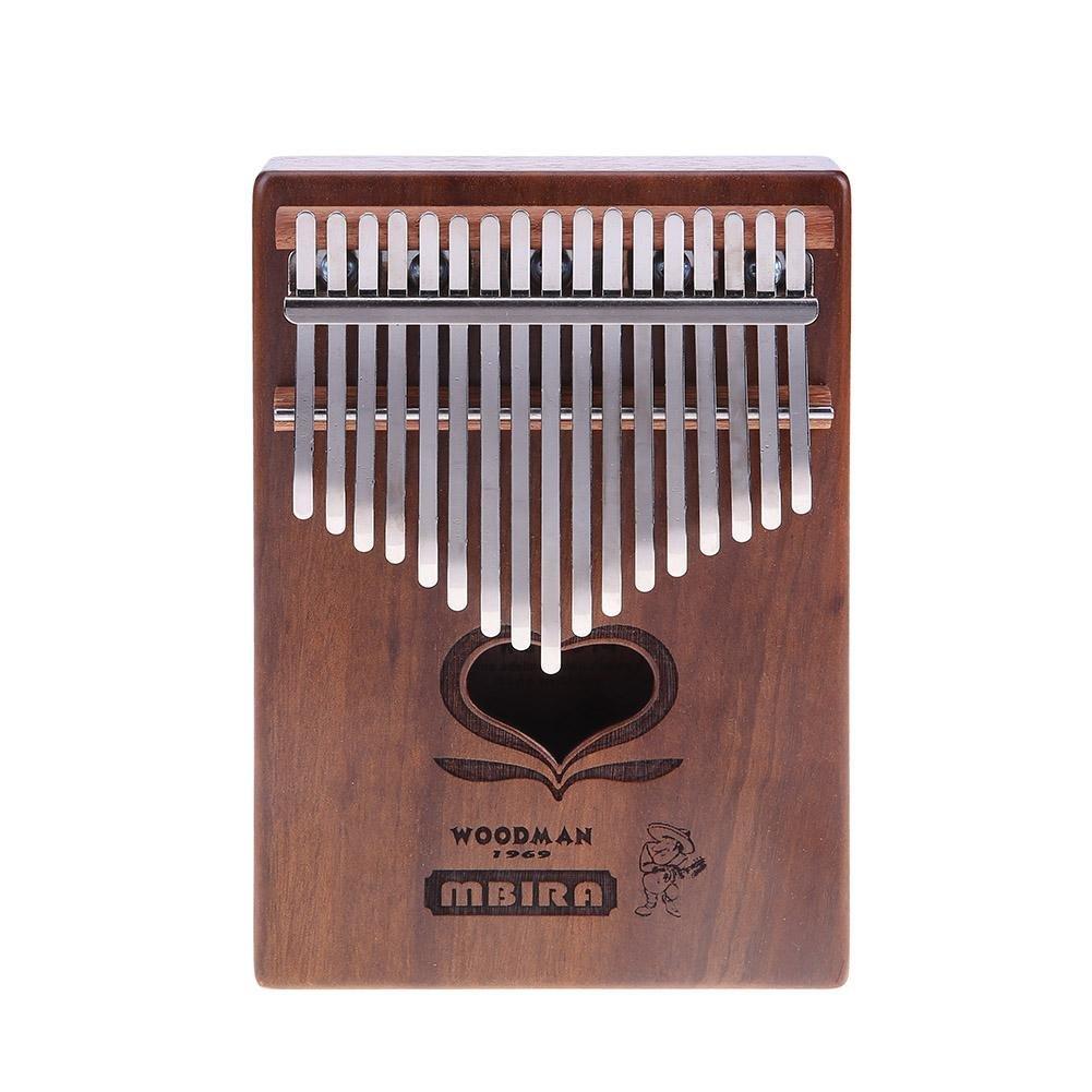 Domybest 17 Keys Kalimba Thumb Piano Finger Percussion Keyboard Musical Tool(A)