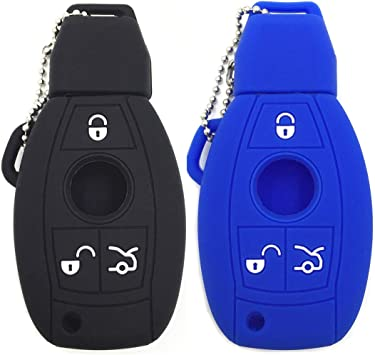 Car Key Fob Cover for Mercedes Benz Silicone Rubber Case