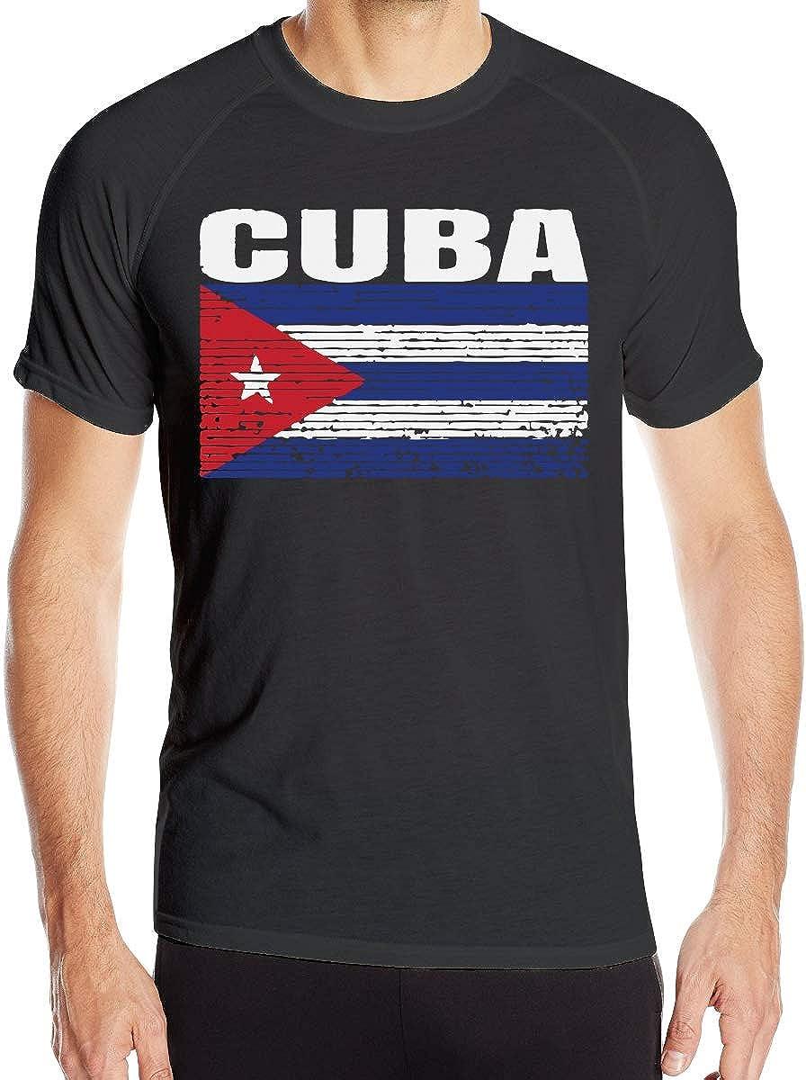 JEFFERYjSPARKS ludouqingJ Camisetas y Tops Hombre Polos y Camisas, Cuba Country Vintage Cuban National Flag Mens Short Sleeve T-Shirt Quick-Drying Training Tees: Amazon.es: Ropa y accesorios
