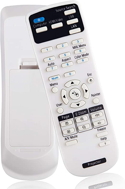 World of Remote Controls General Universal Compatible Replacement Projector Remote Control Fit for Benq MX613ST MX615 MX710 MP514 MP523 MP515ST MP624 MP24 MP625 MP720P MP626 Projector