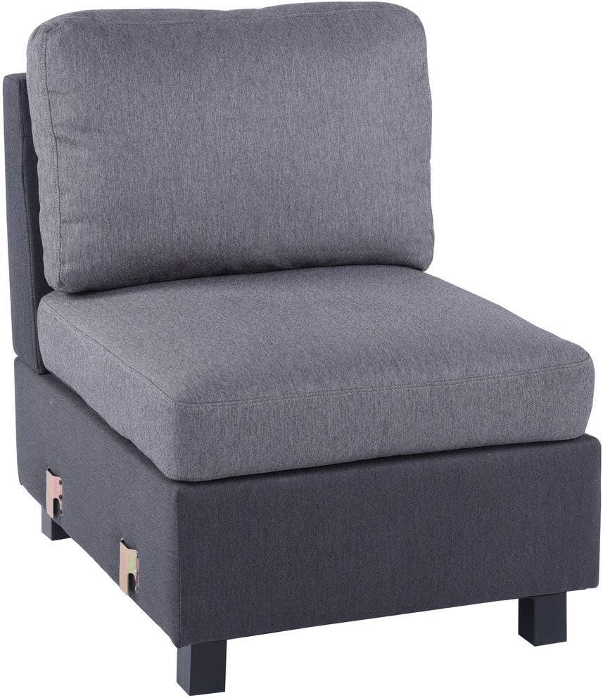 Asiento Modular Reversible sofá Tejido Gris y Negro modulable extraíble Silla