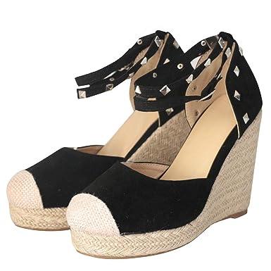 289a0d204bb02 Amazon.com: Veodhekai Women High Heel Platform Sandals Retro Weaving ...