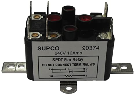 supco 90293 general purpose fan relay 1 a load current 24 v coil rh amazon com