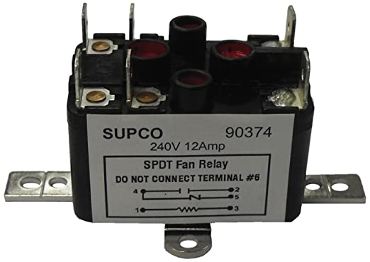 supco 90293 general purpose fan relay 1 a load current 24 v coil rh amazon com AC Relay Wiring 5 Pin Relay Wiring Diagram