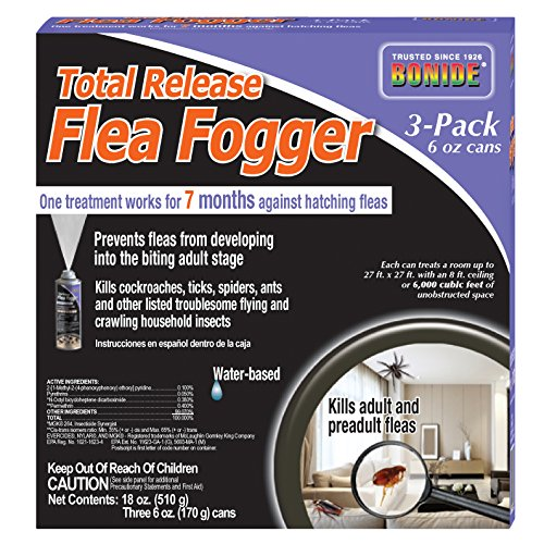 Bonide Chemical Total Release Flea Fogger, 6-Ounce, 3-Pack ()