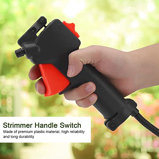 Garosa 26mm Strimmer Handle Switch Acelerador Trigger Cable Plastic Strimmer Handle Switch para Trimmer Desbrozadora Brush Cutter Handle Switch ...