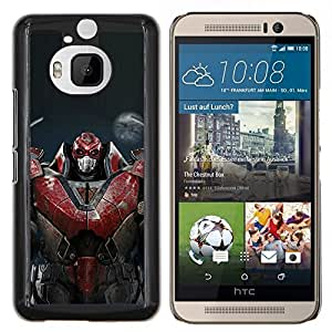 "Be-Star Único Patrón Plástico Duro Fundas Cover Cubre Hard Case Cover Para HTC One M9+ / M9 Plus (Not M9) ( Robot Rojo masivo"" )"