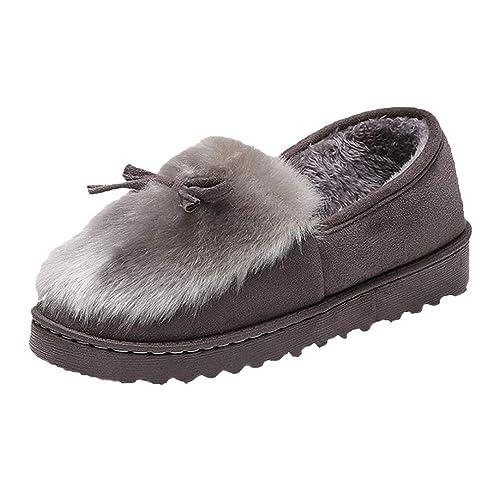 Mujeres Mocasines Mocasines Zapatillas casa cálido algodón Forrado Invierno Gamuza Mocasines Zapatos Casuales Zapatilla: Amazon.es: Zapatos y complementos