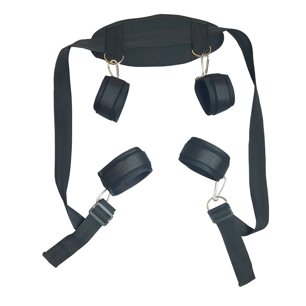 Cozy Feel Bondage Restraint Kit with Adjustable Soft Wrist and Ankle Cuffs J408