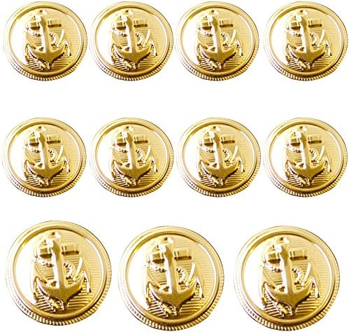 Gold Metal Wine Buttons Set for Blazer Sport Coat or Suit Jacket