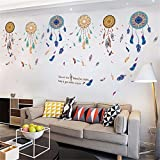 YUMULINN wallpaper stickers Wallpapers murals Dream catcher wall stickers bedroom warm living room wall dream catcher ornaments wall decoration stickers wall stickers creative, 60X90CM
