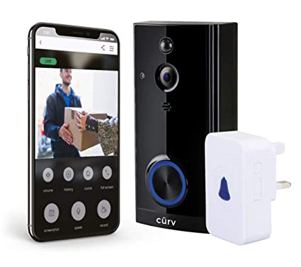 Wireless HD 1080p Video Doorbell WiFi Smart 2-Way Talk PIR Motion Detection  Night Vision Internal Chime Wide Angle Free App 8GB SD Card Long Life