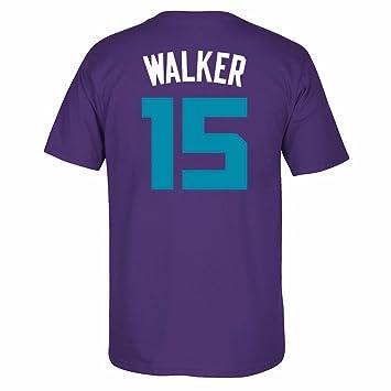 Adidas Kemba Walker Charlotte Hornets de la NBA Morado Nombre y número Jugador Equipo de Jersey Color Camiseta de Manga Corta para Hombre, XL, ...