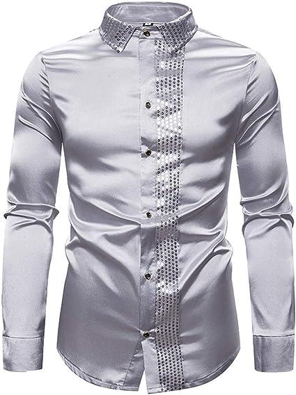 Frieed Moda Brillante Informal Camisa De Manga Larga Camisa ...