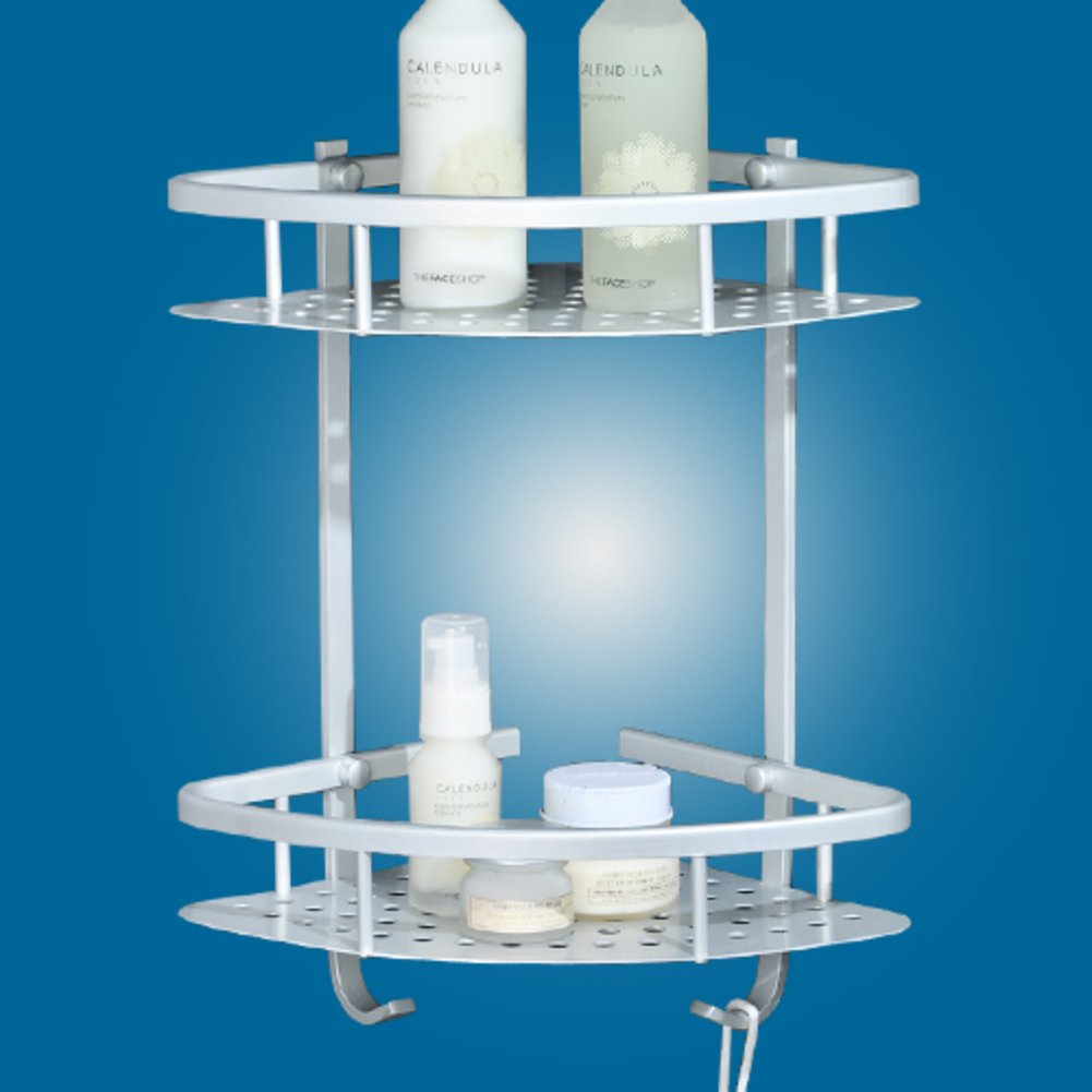 Space aluminum bathroom Delta Blues/bathroom corner rack/double ...