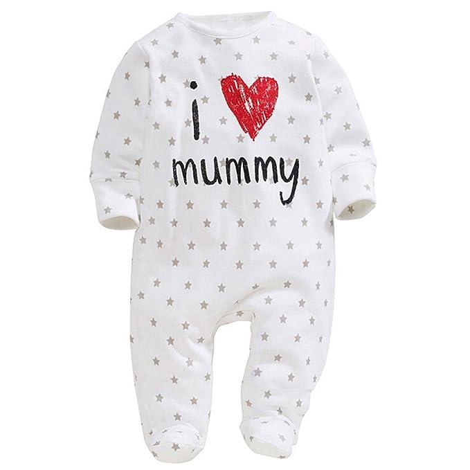 bobora Kids suave patrón de Love Mummy Daddy body de Pelele de manga larga Niños, blanco blanco M: Amazon.es: Ropa y accesorios