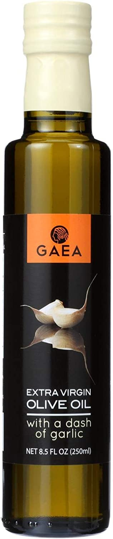 GAEA Extra Virgin Olive Oil; Garlic , Pack of 8