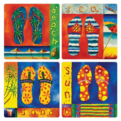 CoasterStone AS9685 Absorbent Coasters Tropical product image