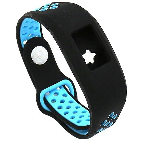 Runtenic Garmin Vivofit 3 Smartwatch Recambio Muñeca Reemplazo Correa para Garmin Vivofit3/Vivofit JR/Vivofit JR. 2 Bracelet Fitness Activity Tracker ...